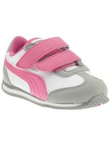 Whirlwind V (Infant/Toddler/Youth) - Limestone Gray/White/Azalea Pink